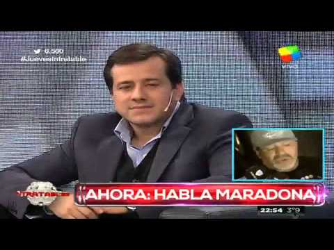 """Maradona a Recalde: """"En tu publicidad, Claudia está de más"""""""