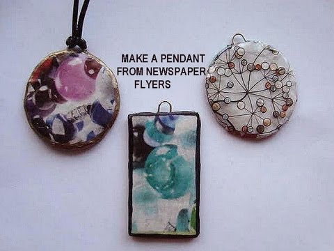 How To Make A Round Pendant From Newspaper Flyers Recycle Project