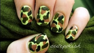 Easy Camouflage Nail Art