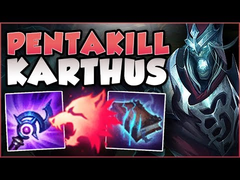 WTF! PREDATOR DAMAGES EVERYONE KARTHUS ULTS?? PENTAKILL KARTHUS TOP GAMEPLAY!  League of Legends