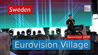 Benjamin Ingrosso (Sweden) - Dance You Off (LIVE @ Eurovision Village) Eurovision 2018