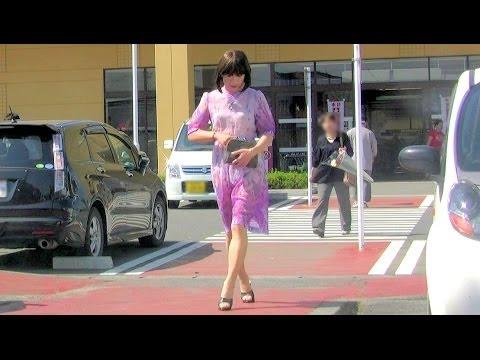 ミニスカ熟女のシースルー/ See-through Trial -dress- - YouTube