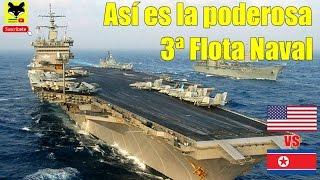 Asi es la poderosa tercera  flota naval de los Estados Unidos que Trump envió a Corea del Norte