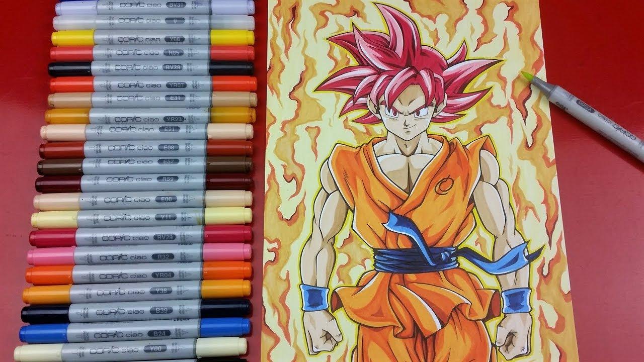 50 Imágenes De Goku Para Dibujar: Drawing GOKU Super Saiyan GOD