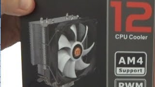 am4 thermaltake contac silent 12 cpu cooler review
