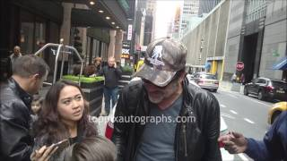 Jeffrey Dean Morgan - SIGNING AUTOGRAPHS while promoting in NYC