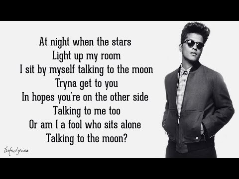 Bruno Mars - Talking To The Moon (Lyrics) 🎵