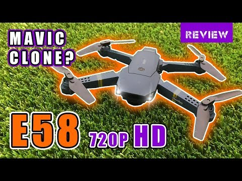 Eachine E58 WIFI FPV Review [Deutsch 🇩🇪 🇨🇭 German] – «Bester» DJI Mavic Pro-Klon?