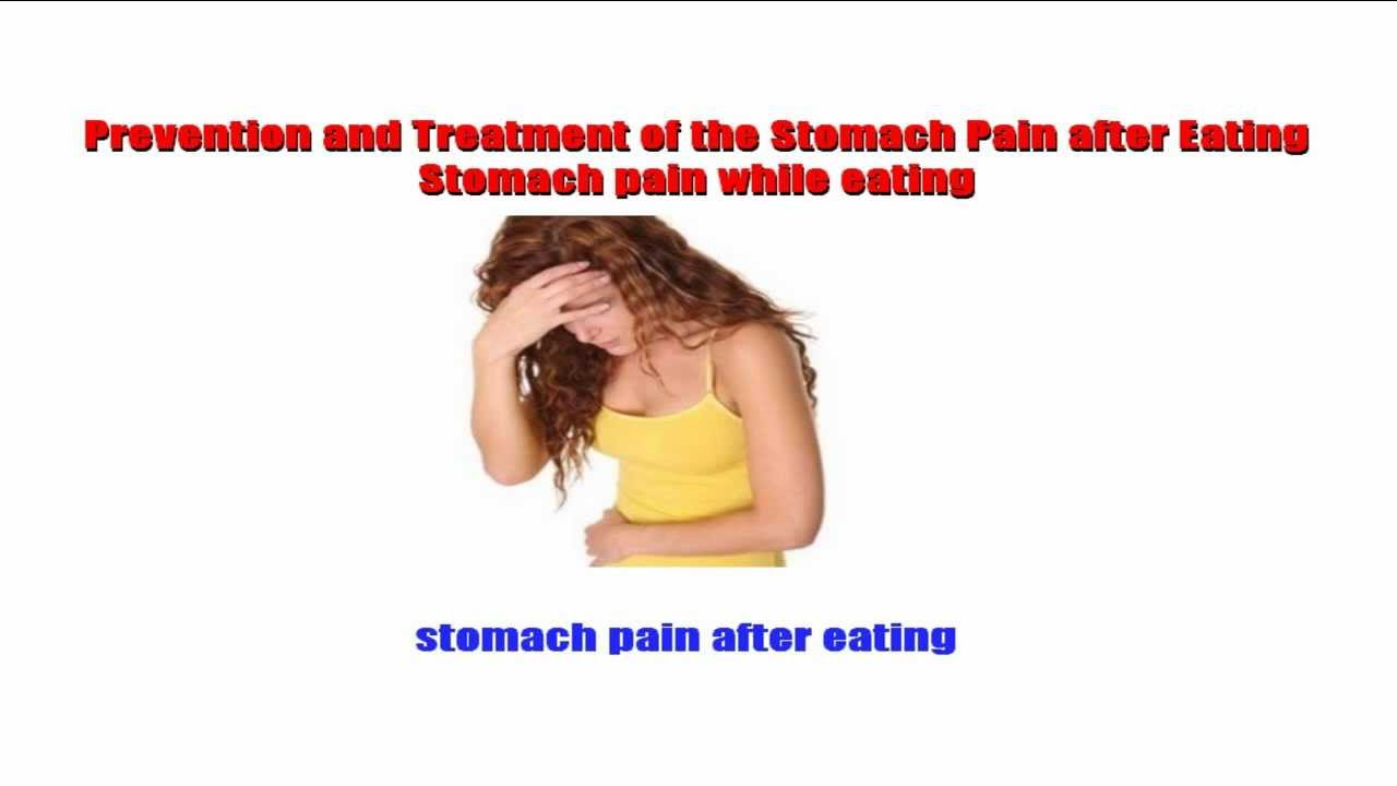 stomach pain after eating - YouTube