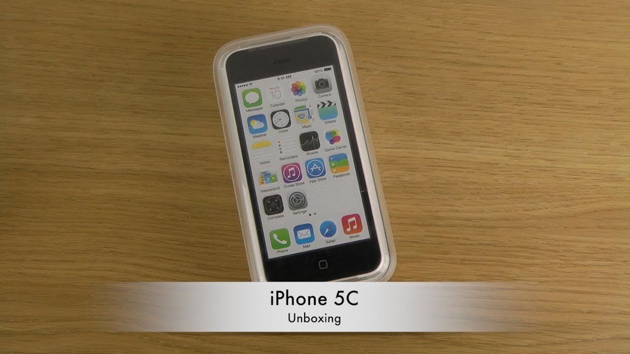 iPhone 5C - Unboxing - YouTube