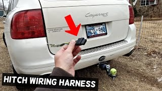 HOW TO INSTALL TRAILER HITCH WIRING HARNESS ON PORSCHE CAYENNE - YouTubeYouTube