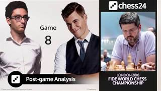 Svidler's Caruana-Carlsen Game 8 Analysis - 2018 FIDE World Chess Championship