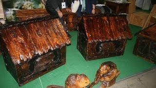 Amazing Hand Carved Wood Chest Beehives