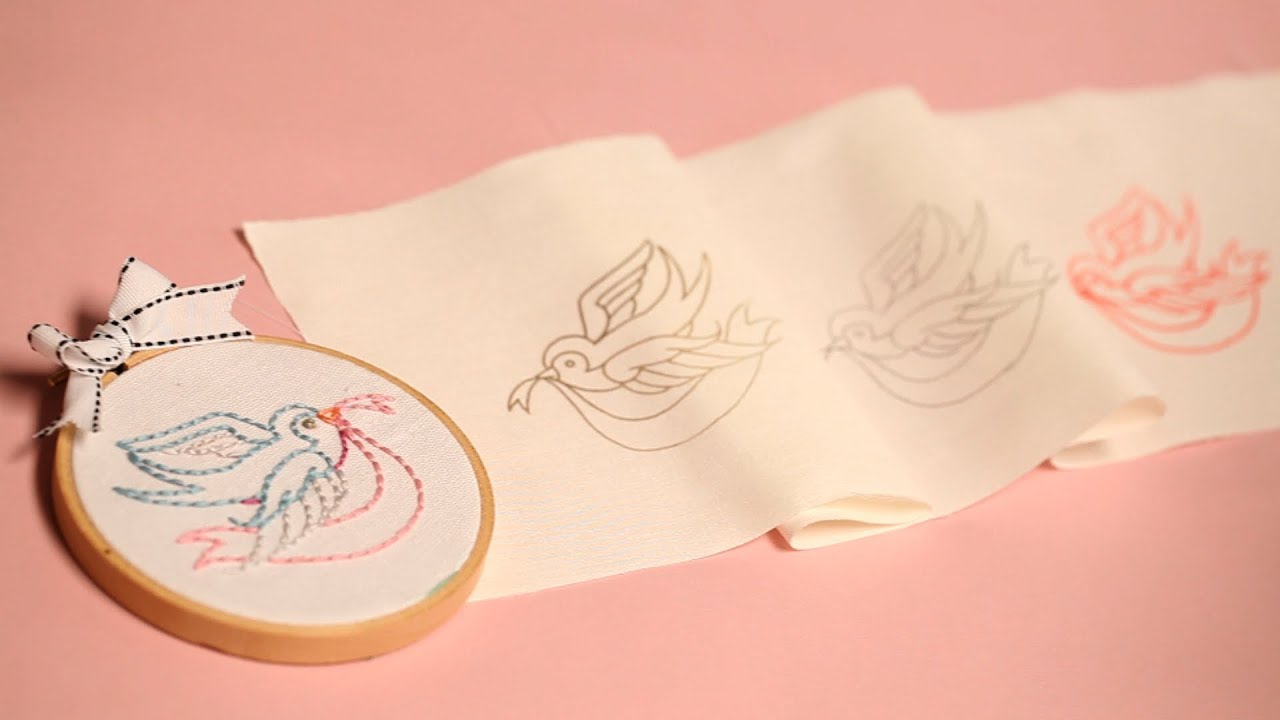 Three Ways To Transfer Embroidery Patterns Youtube