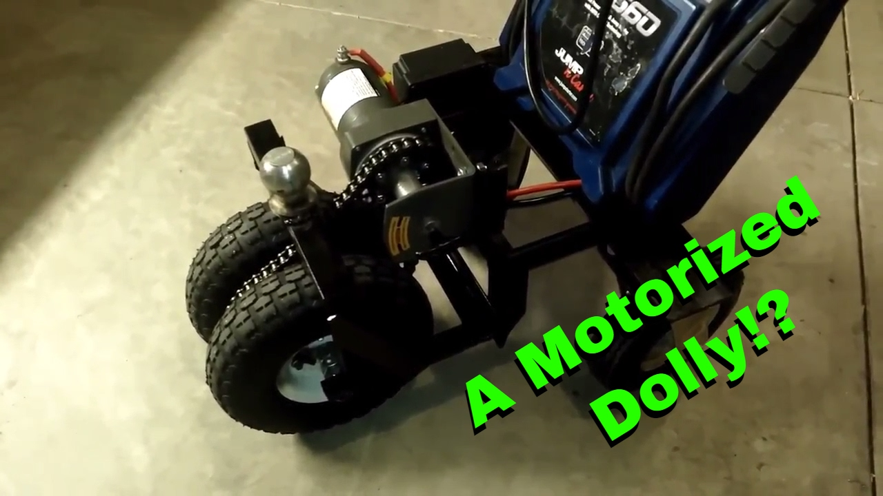 Electric Trailer Dolly >> Diy Motorized Trailer Dolly Trailer Mule