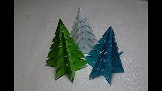 Поделки из бумаги Рождественская Елка  Christmas tree one sheet paper