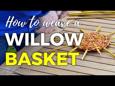 How To Weave A Willow Basket - Part 1