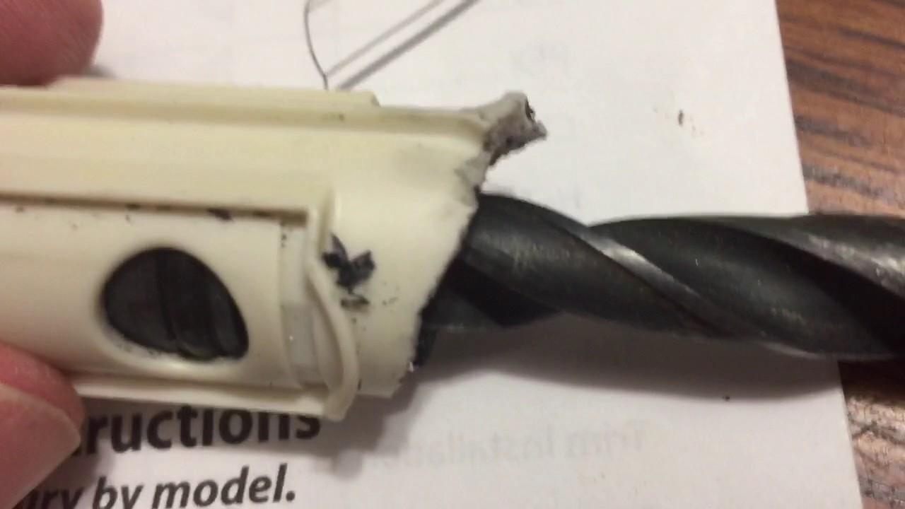 Removing a broken Moen 1222 Posi-Temp tub/shower valve - YouTube
