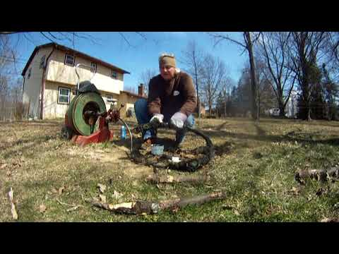 ROOT REMOVAL How to Clean Drains, underground downspout drains & sump pump discharge line