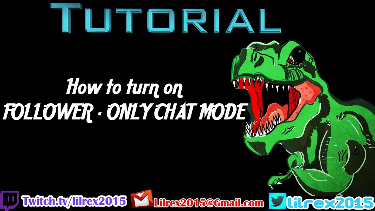How to turn on Follower only chat mode on Twitch