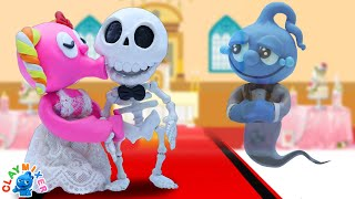 Tiny and His Ghouly Ghost Bride - Relationship Stop Motion Animation Cartoons