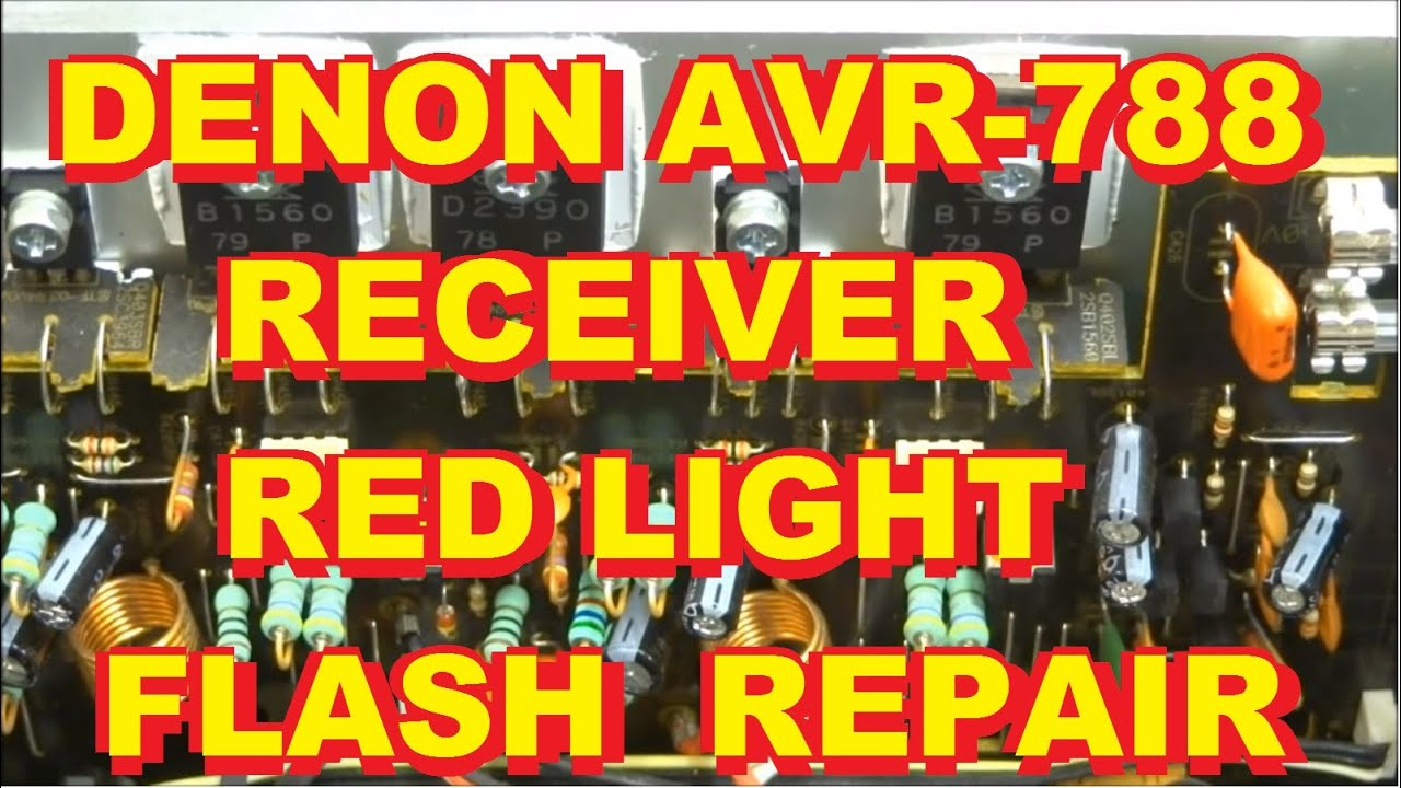 Way Traffic Light Circuit Diagram Wiring Denon Avr788 Avr 788 Blinking Red Fix Youtube