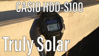 Casio HDD-S100 , The True Casio Solar Watch