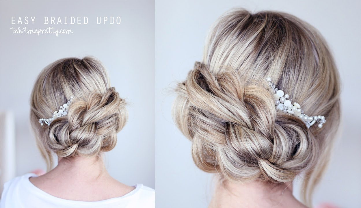 EASY Braided Updo - YouTube