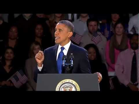 Obama Victory Speech (Obama Wins the 2012 Election) [with Transcript]