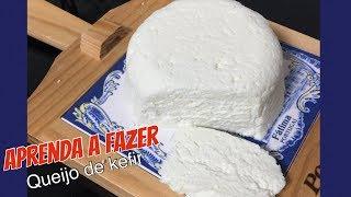 Queijo delicioso de KEFIR em 3 minutos – Aprenda a fazer