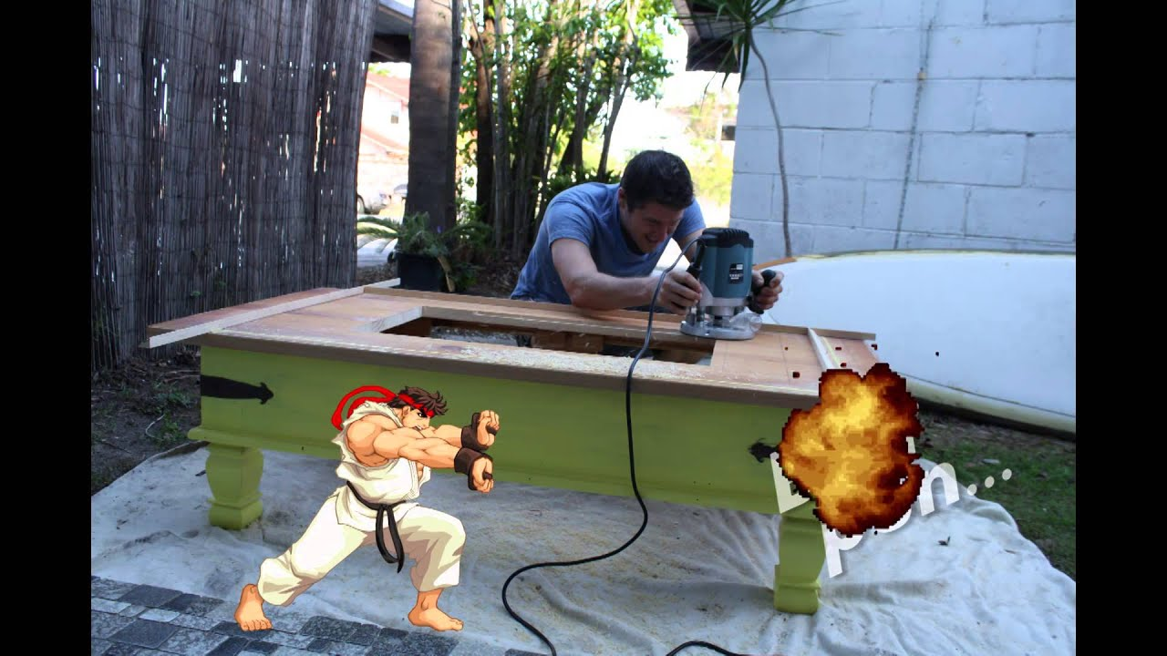 Diy arcade machine coffee table youtube geotapseo Choice Image