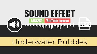 🔊 SOUND EFFECT: ( Underwater Bubbles ) + HUGE FREE PACK - [ 147 Free Sounds Effects ] - Part 12