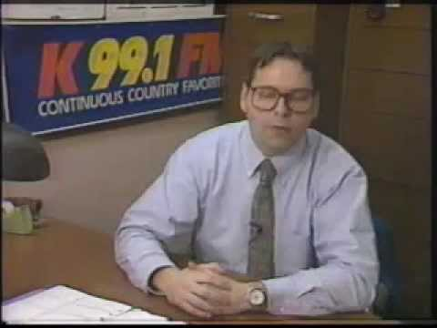 WHKO (K99.1FM) Dayton, Ohio cheesy radio station tour from 1990