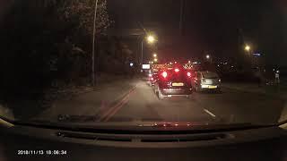 Accident on Bordesley Middleway Birmingham {A4540}