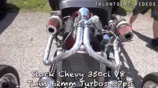Custom Built Twin Turbo Hot Rod on the dyno