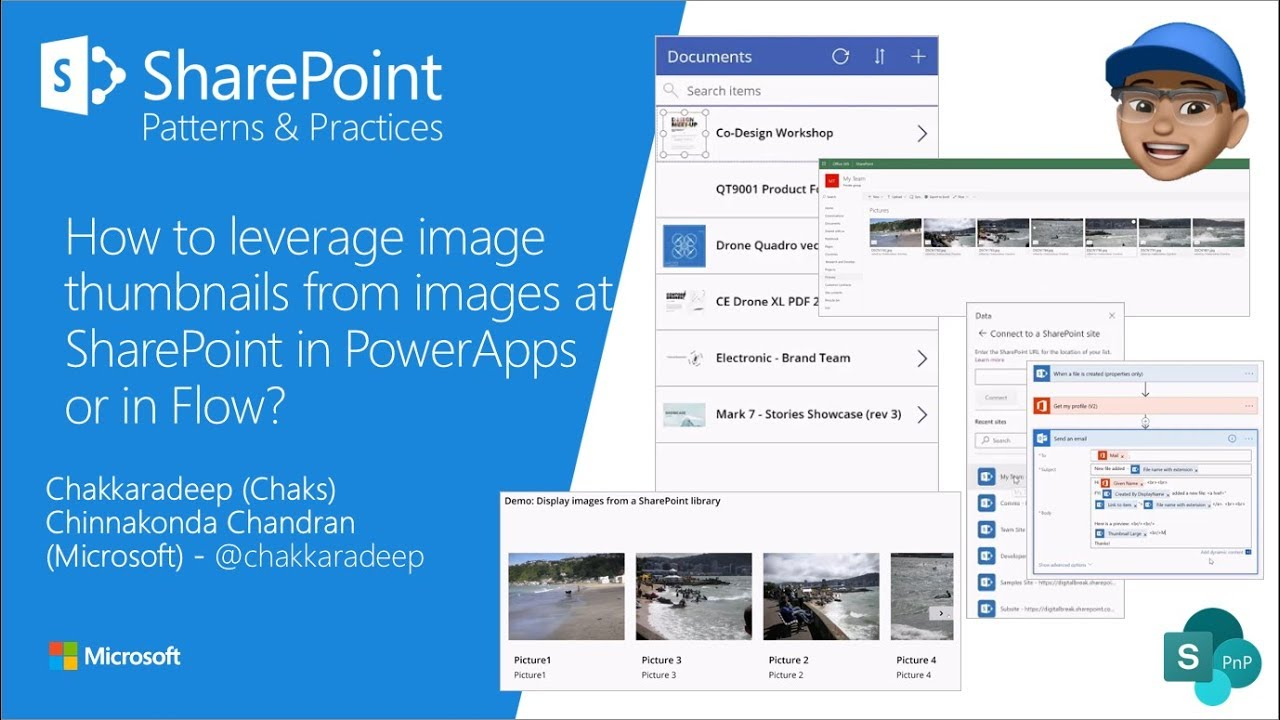 Community Demo - How to leverage image thumbnails from images at SharePoint  in PowerApps or in Flow?