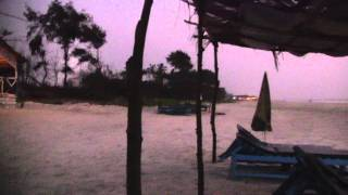 Южный Гоа.Пляж Варка. Вечером у Кабачка у Эдди.
