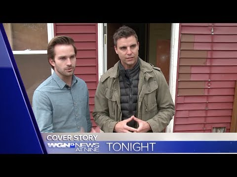 Colin Egglesfield & Tyler Neitzel  with WGN  in Chicago