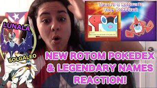 New Pokédex Rotom Legendary Names Reaction