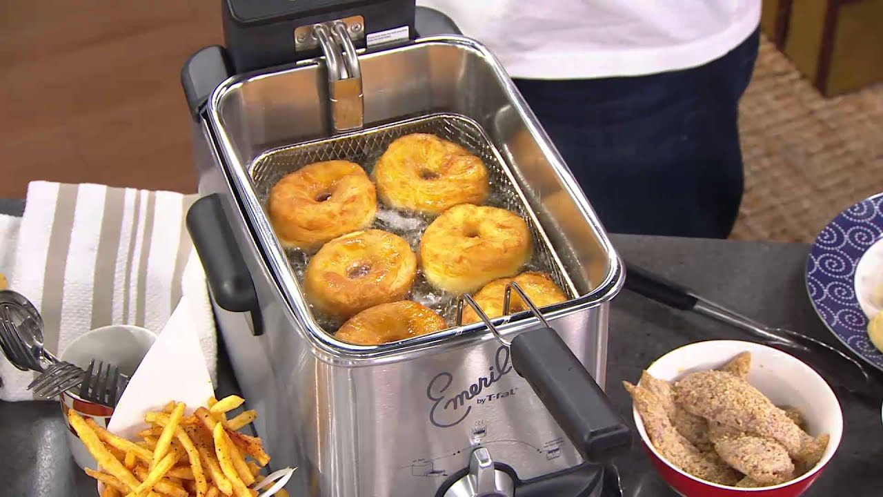 Emeril By T Fal 3 3l Stainless Steel Deep Fryer With Oil