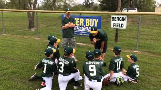 Little League Pregame Speech - Defense Sucks/Hit Dingers