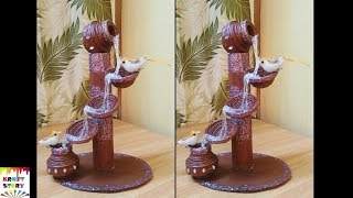 Newspaper craft idea |  DIY Newspaper waterfall showpiece |best out of waste