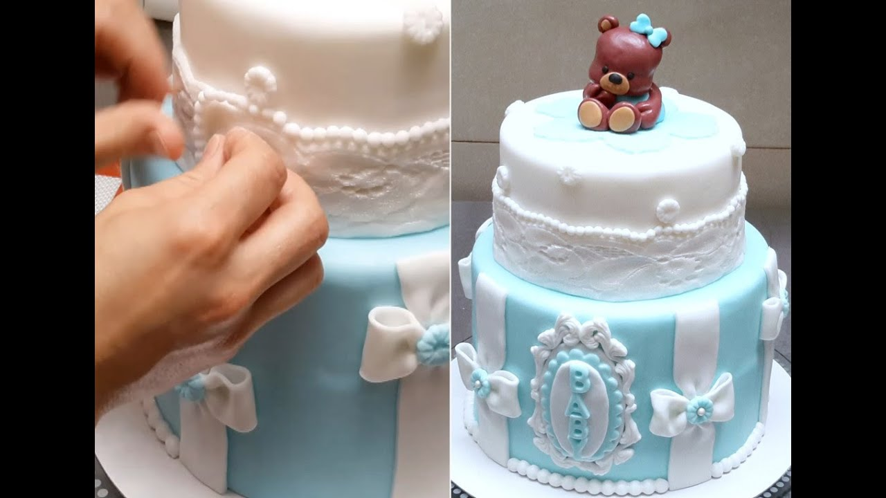 Baby Shower Teddy Bear Cake How To Make By Cakes Stepbystep Youtube