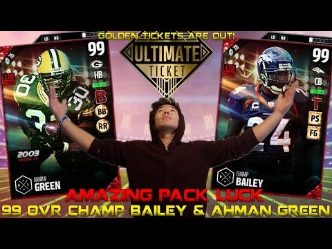 WE GET 99 OVR CHAMP BAILEY & GREEN! GOLDEN TICKETS ARE OUT! MADDEN 17 ULTIMATE TEAM