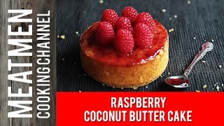 Raspberry Coconut Butter Cake