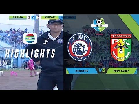 AREMA FC (2) vs MITRA KUKAR (2) - Full Highlight | Go-Jek Liga 1 bersama Bukalapak