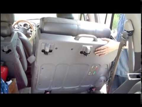 How to remove the back seats from a Chrysler PT Cruiser step by step
