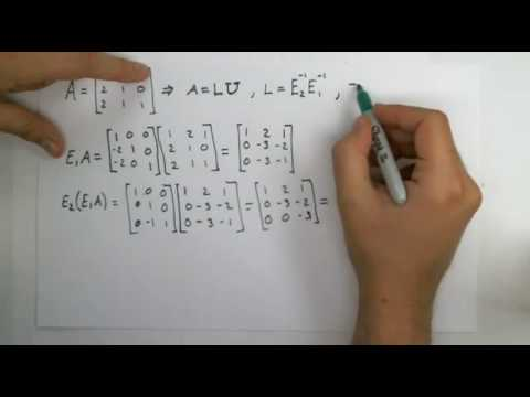 LU Decomposition or LU Factorization of 3x3 matrix done by hand with ...
