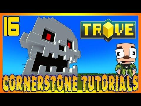 Trove Cornerstone Builds PC PS4 Xbox One - Part 16: CREEPY SKULL