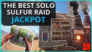 Gambar cover The BIGGEST SOLO SULFUR Vanilla RAID Of ALL TIME!! The JACKPOT!! Rust Solo Survival Gameplay Finale